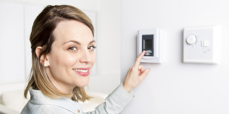 mulgas customer setting heating thermostat